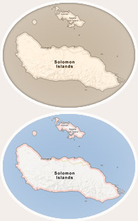 Solomon Islands Map
